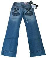 MISS SIXTY Stonewash Blue Baggy Jeans 24/34 Mod:BUBBER
