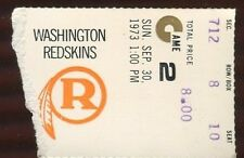 Ticket Football Philadelphia Eagles 1973 9/30 Washington Redskins