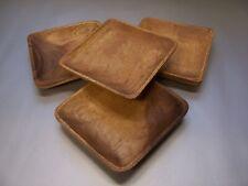 Teller Holzteller 4er Sparset 15x15cm Schale Tablet Akazienholz Mittelalter