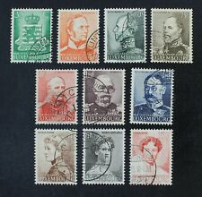 CKStamps: Luxembourg Stamps Collection Scott#206-215 Used #214 Thin