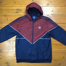 Retro Adidas Originals Colorado Windbreaker Jacket Burgundy Blue Men's Medium M