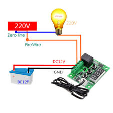 1Pc Digital Temp Thermostat Temperature Controller Sensor Relay Switch -50-110C