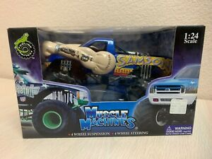 2003 Muscle Machines USA TOO WILD SAMSON Monster Truck Die Cast 1:24 Scale