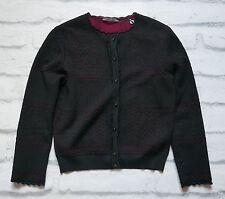 Alexander McQueen pre-otoño'15 Negro/Cereza Encaje Tejido Cardigan Nuevo con Etiquetas Tallas £ 990