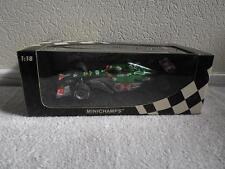 COA SIGNED MINICHAMPS JAGUAR RACING SHOWCAR 2004 MARK WEBBER 1:18 WEC CHAMPION