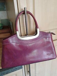 Barberini's Firenze Italy Small Purple/Mauve Leather Handbag