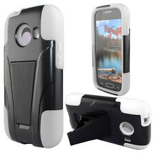 Straight Talk Samsung Galaxy ACE Advanced  HYBRID KICKSTAND Case + Screen Guard