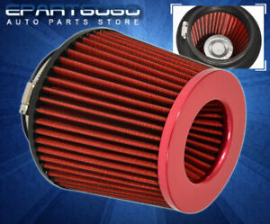 """For Volvo 3.0"""" Air Filter 76mm Road Race Intake Replacement Sri Washable Red"""