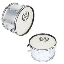 New Silver Percussion Snare Drum Kit Set with Drum Stick & Accessories