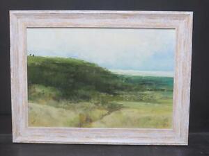 James Carlisle b1937 Tonalist Oil Seascape Cliffs Northumberland Modern British