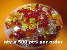 LEGO Assorted Lot 1x1 Translucent Small Pieces Tiles Plates Studs Slopes 500 Pcs