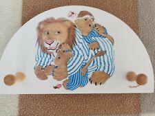Vintage Sevi Italy suditrol 1831 handmade wooden coat clothes rack lion pyjamas