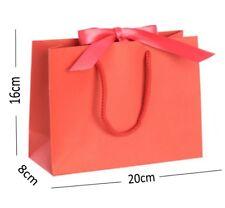 Rouge Saint Valentin Boutique Magasin Petit Ruban Sac Cadeau - Corde Anse