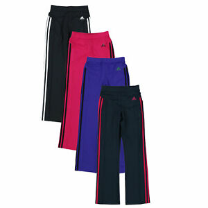 Adidas Climalite Girls Pants Kids Performance Activewear Running Youth Athletic