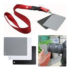 18% Digital Photography Exposure Color Balance Card Set Gray/White/Black Lanyard