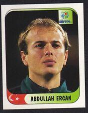 "EURO 96 STICKER - TURKEY - "" ABDULLAH ERCAN "" No 309 BY MERLIN"