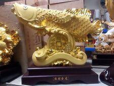 "28""LChinese King Dragon Arowana Fish Statues"