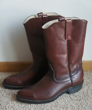 Vintage Red Wing Shoes Pecos 1472 Brown Leather Western Style Boots 10.5 B