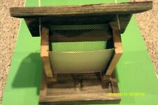 "New, Large (Handmade)Gravity Feed Bird Feeder( Weathered Wood )Approx.13""L X 10"""