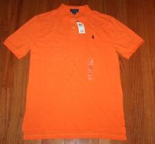 NWT Polo Ralph Lauren Boys Short Sleeve Polo Shirt Resort Orange Pony Logo *W8