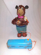 VINTAGE BATTERY OPERATED MINING BEAR TOY SAN TOYS JAPAN 1960's WORKING ORDER