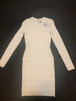 Torn by Ronny Kobo Bandage Dress Off-White Women's Size L NWT MSRP $368