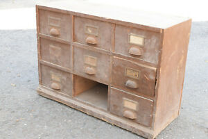 alter antiker kleiner Schubladenschrank Apothekerschrank Werkzeugschrank Shabby