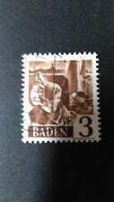 FRANCE 1947 OCCUPATION ALLEMAGNE BADE, timbre 2, BODENSEE oblitéré, VF STAMP
