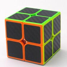 Z-cube  2x2x2 Carbon Fiber Sticker Speed Smooth Magic Cube Fidget Cube Toy Gift