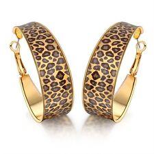 New Fashion Enamel Leopard Print Big Hoop Earrings 18k Alloy Ift Women's CE48