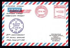 More details for 1991 opening glasgow airport anniv. flown signed cover (double franking) ws10689