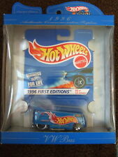 1996 HOT WHEELS BOXED VW DRAG BUS FIRST EDITIONS VOLKSWAGEN MINT IN BOX + MOC