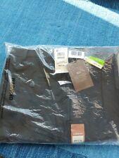NEW! Haggar Big and Tall eClo Stria Pleated Pants Black Classic Fit Sz 46W x 29L