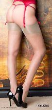 Retro inglesa strapsstrümpfe medias de nailon RHt medias, talla L muy suave