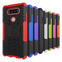 Slim Hybrid Armor Shockproof Rugged Rubber Duty Stand Hard Case Cover for LG V20