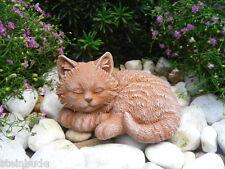 Steinfigur Katze mini, Gartenfigur Gartendeko Geschenk Figur Steinguss Tierfigur