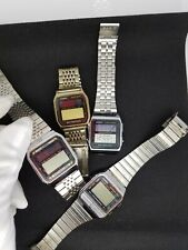 Rare CASIO Vintage Digital Watch LOT BATTERYLESS BB-801 AL-180 BB-800 SOLAR LCD