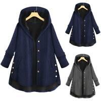 Women Ladies Winter Warm Outwear Hoodie Hooded Pocket Coat Long Plus Size Jacket