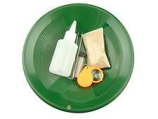 """Gold Rush Mining Kit"" Real PayDirt-Green Gold Pan-Vial-Snuffer-Tweezers -Loupe"