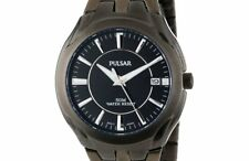 PRE-OWNED $150 Pulsar Men's Classic Stainless Steel Black Dress Watch PXHA27