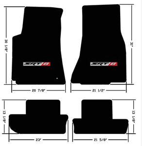 NEW! BLACK Carpet FLOOR MATS 2008-2010 Challenger Embroidered SRT8 Logo - Set 4
