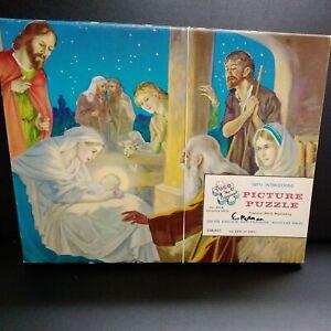 "Vintage TUCO Art Picture Puzzle ""The Birth Of Christ""100% Interlocking"