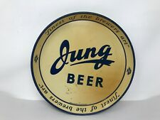 """Rare Vintage 1930's Jung Beer Tray finest of the brewers art Prohibition 12"""""""