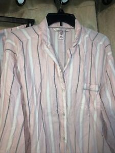 Victoria's Secret Striped Pajamas Set 2 Pcs Pjs Size Large Short