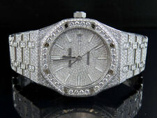 Mens 41 MM Audemars Piguet Royal Oak Stainless Steel with 18.5 Ct of VS Diamond