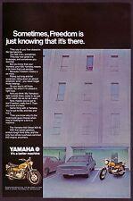 1971 Original Vintage Yamaha 650 Street XS1-B Motorcycle Photo Print Ad