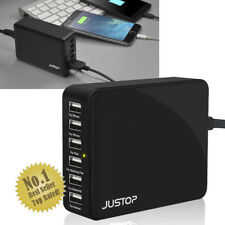 NEW 6-Port USB Mains Wall/Desktop Hub Charger Adapter Multi-Devices Home/Travel