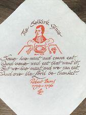 Vintage Scotland Napkins Robert Burns Selkirk Grace R Dinwiddie & Co Dumfries