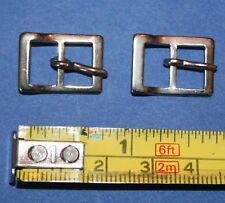 2 Metall Schnallen mit Dorn für Schuhe Gürtel Hüte Kleider Träger  ca. 2x1,4cm