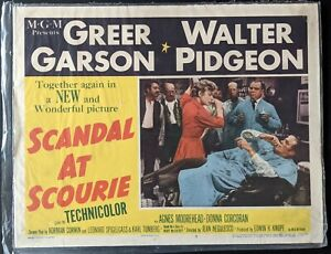"RARE VINTAGE 1953 WALTER PIDGEON GREER GARSON 'SCANDAL AT SCOURIE' 14"" x 11"""